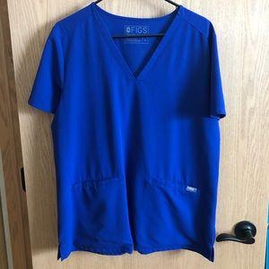Blue FIGS scrub top